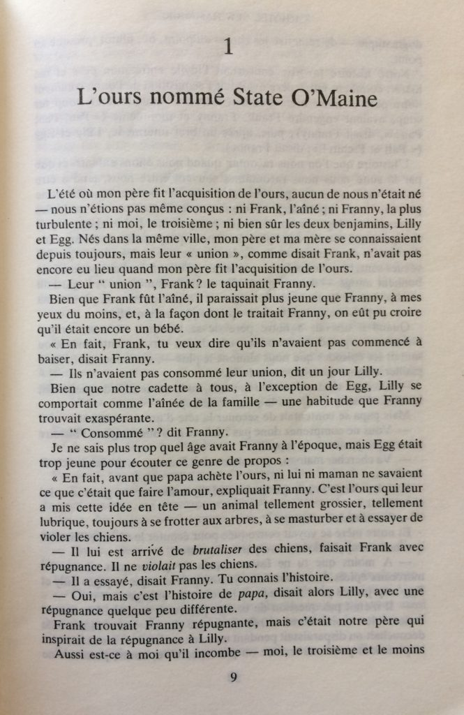 Chapitre 1, page 1 L'ours nommé State O'Maine